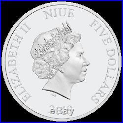 Niue 5 Dollar 2019 Star Wars Millennium Falke 2 Oz Silber PP High Relief