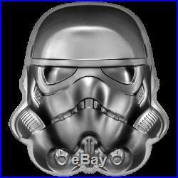 Niue 5 Dollar 2020 Star Wars Stormtrooper Helm High Relief 2 Oz Silber PP