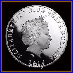 Niue 5 Dollars Silver Proof Coin 2 oz, 2014 Batman 75 Year Anniversary