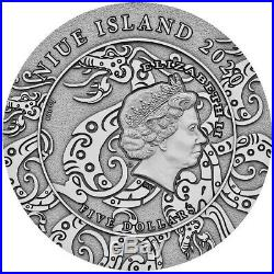 Niue $5 QIN SHI HUANG LEGENDS of GREAT CHINESE EMPERORS 2020 Silver Coin 2 oz