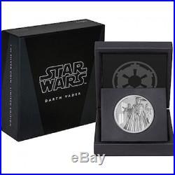 Niue Disney Star Wars $2 Dollars, 1 oz Silver Proof Coin, 2016, Mint, Darth Vader