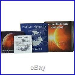 Niue Island 2016 1$ Mars Martian Meteorite NWA 6963 1oz Silver Coin