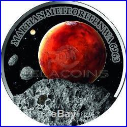 Niue Island 2016 50$ Mars Martian Meteorite NWA 6963 1 KG Silver Coin