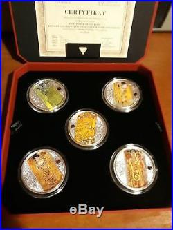 Niue Island 5x 1$ Dollar Gustav Klimt 2018 Five coins set