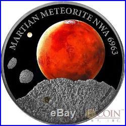Niue Island MARS 2016 $1 MARTIAN METEORITE NWA 6963 Silver coin 1 oz