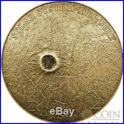 Niue Island MERCURY SOLAR SYSTEM $1 Silver coin 2016 Meteorite inlay Convex 1 oz