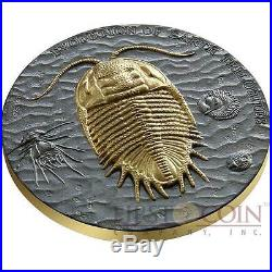 Niue Island TRILOBITES EVOLUTION OF EARTH $2 Silver Coin 2016 Ruthenium 2 oz