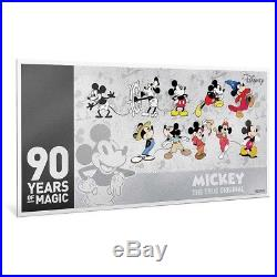 Niue Mickey Mouse 90th Anniversary Coin Note Collection Silver $1 Note BU MNI