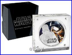 Niue Star Wars $2, 1 oz. Silver Coin X 3 Coins Set, Mint, Kylo Ren, Phasma, Rey