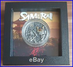 Niue Warriors Samurai 2 Oz Silver Coin + Box