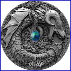 Norse Dragon Dragons Silver Coin 2 Dollars 2 Oz Niue 2019