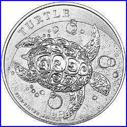 ON SALE! 2015 2 oz New Zealand Silver $5 Niue Hawskbill Turtle Coin (Lot of 5)