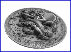 PERSEUS Silicone Demigods 2 Oz Silver Coin 2$ Niue 2018