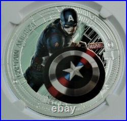 PF69 Captain America Marvel Avengers Ultron 2015 ULTRA CAMEO 1 oz. 999 Silver