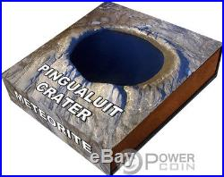 PINGUALUIT Meteorite Crater 1 Oz Silver Coin 1$ Niue 2018