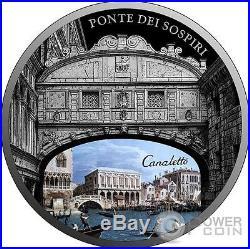 PONTE DEI SOSPIRI Bridge of Sighs SOS Venice 1 Oz Silver Coin 2$ Niue 2017