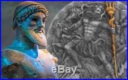 POSEIDON God Of the Sea Gods 2 Oz Silver Coin 2$ Niue 2018