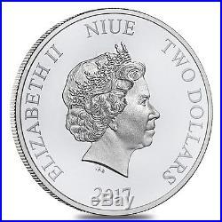 PRESALE Lot of 100 2017 1 oz Niue Silver $2 Star Wars Darth Vader BU 4 Tube