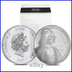 PRESALE Lot of 10 2017 1 oz Niue Silver $2 Star Wars Darth Vader BU