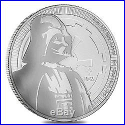 PRESALE Roll of 25 2017 1 oz Niue Silver $2 Star Wars Darth Vader BU Tube, L