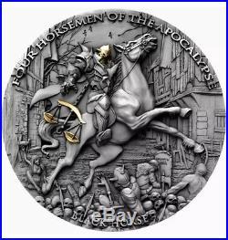 PRE-ORDER BLACK HORSE Four Horsemen Of The Apocalypse 2oz Silver Coin Niue 2020