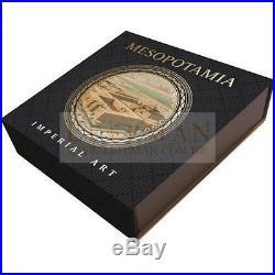 RARE MESOPOTAMIA Imperial Art Agate Crystal 2 Oz Silver Coin 2$ Niue 2014