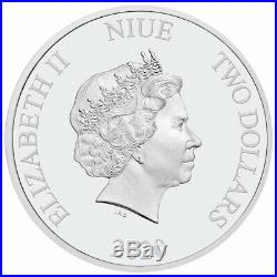 Roll-25 2020 Niue Star Wars Classic Boba Fett 1oz Silver Brilliant Uncirculated