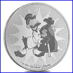 Roll of 25 2018 1 oz Niue Silver $2 Disney Scrooge McDuck BU (Tube, Lot of 25)