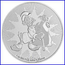 Roll of 25 -2018 Niue Silver Disney Series Scrooge McDuck $2 BU PRESALE SKU53551