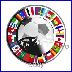 Russia 2018 World Cup Football Silver coin Fans Souvenir Soccer coins Niue