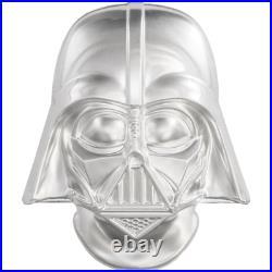 STAR WARS Darth Vader HELMET 2019 NIUE 2oz ULTRA HIGH RELIEF SILVER COIN MS69