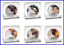 Star Wars The Force Awakens 6 Coin Set Kylo Ren, Phasma, Rey, Bb-8, Finn, Poe