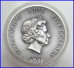 SUN WU KONG MONKEY KING CHINESE GODS MYTHOLOGY 2019 2 oz Pure Silver Coin NIUE
