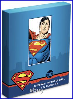 SUPERMAN THE MAN OF STEEL 2021 NIUE 1oz SILVER COIN NGC PF70 UC FIRST RELEASES