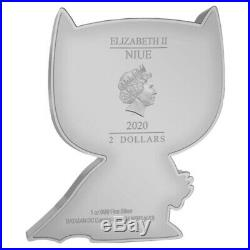 Sale Price- 2020 1 oz Colorized Silver Batman Niue Chibi Coin Collection $2 Coin