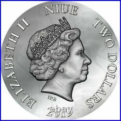 Silbermünze 2019 Niue 2 $ EVANESCA Dark Beauties 50g Silver Coin 999 Le Grand