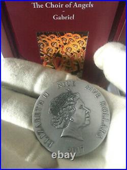 Silbermünze GABRIEL Choir of Angels 2 Oz 999 Silver Coin 5$ Niue 2017