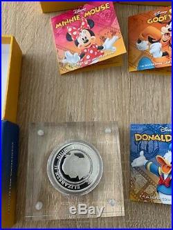 Silbermünzen Set Disney Niue 2014 51oz 999 Feinsilber Zertifikat