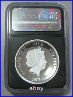 Silver 2017 Darth Vader 2 Ounces Ngc Proof 70 1 Of 500 Niue $5 Star Wars