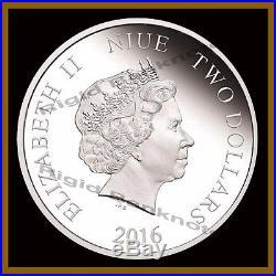 Star Wars $2 Proof 1 Oz x 3 Silver Coin Set, Kylo Ren, Rey, Captain Phasma WithCOA