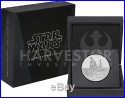 Star Wars Classics Luke Skywalker 1 Oz. Silver Coin Ogp Coa 7th In Series