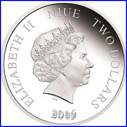 Star Wars Darth Vader 1 Oz Silber Münze 2$ Niue 2016 Silber 999/1000