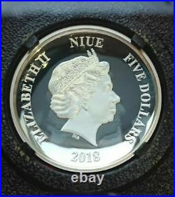 Star Wars Death Star Niue 2 oz Silver $5 2018 Proof Ultra High Relief Coin