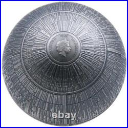 Star wars DEATH STAR Niue 100 dollars 2021 1 kilo kg silver coin MINTAGE 299
