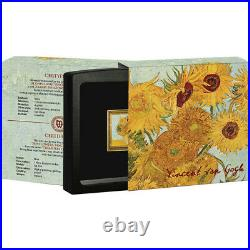 Sunflowers Treasures of World Painting 1 oz Proof Silver Coin 1$ Niue 2019