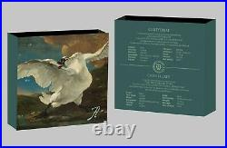 THE THREATENED SWAN TREASURES PAINTING 2020 1 oz $1 Pure Silver Coin NIUE