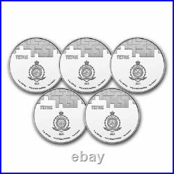 Tetris St. Basil's Cathedral 2021 Niue 1 oz Silver $2 BU Coin -(Lot of 5 Coins)