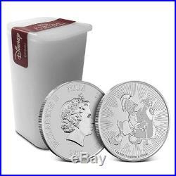 Tube/Lot of 25 2018 Niue 1 oz Silver Disney Scrooge McDuck Coin BU. 999 Fine