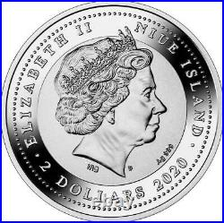 UNICORN 2020 1.05 oz Pure Silver Proof Coin Mint of Poland Niue