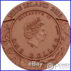 UPHEAVAL Meteorite Crater 1 Oz Silver Coin 1$ Niue 2019